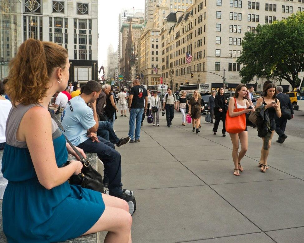 Die junge Dame hat sich plötzlich neben mich gesetzt und wollte schauen, was ich fotografiere...